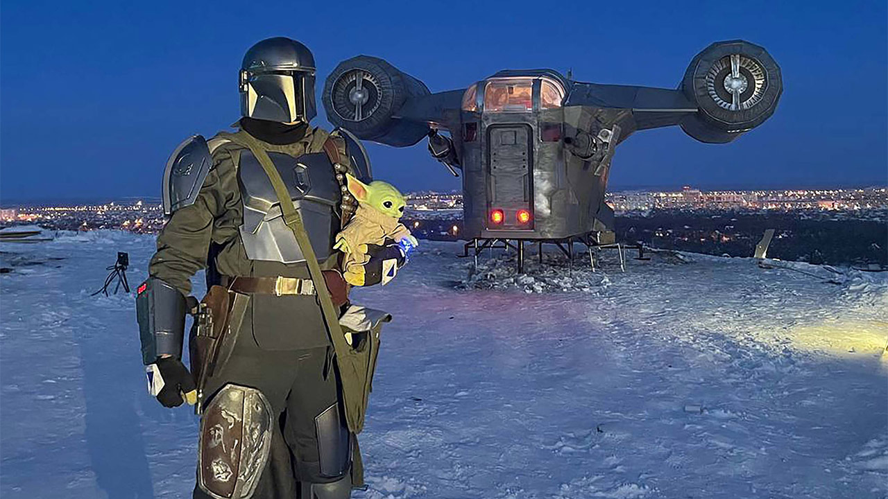 Star Wars Mandalorian Nave Tamaño Real Cosplay