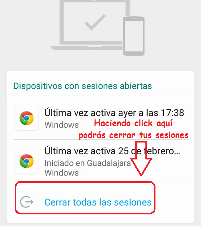 cerrar sesión whatsapp web instructivo