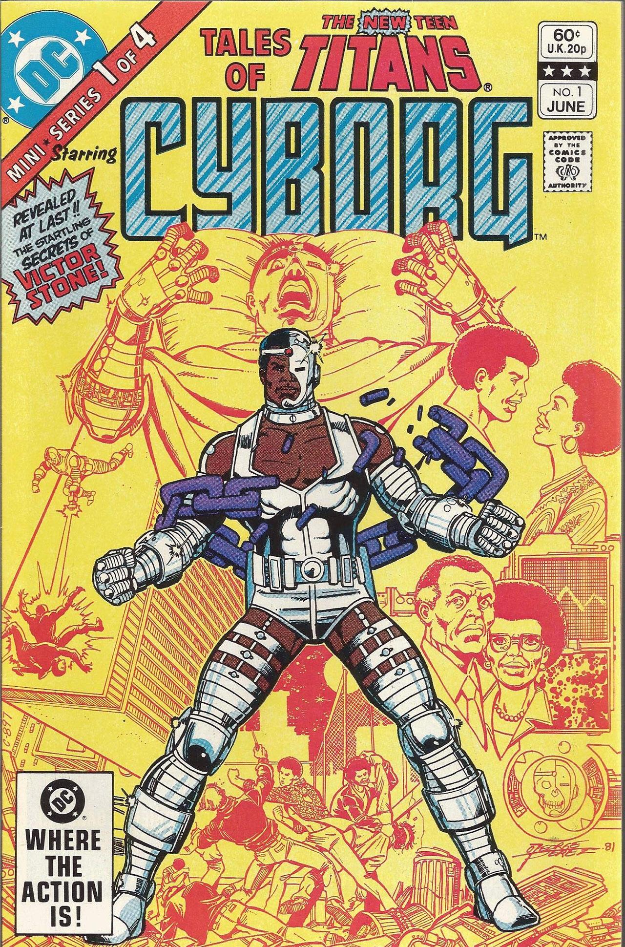 Cyborg Teen Titans Cómics DC Comics