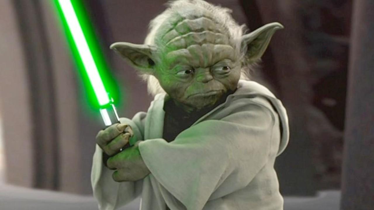 yoda star wars estilo de combate sable laser