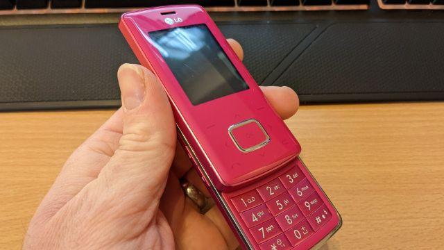 lg chocolate telefono celular rosa