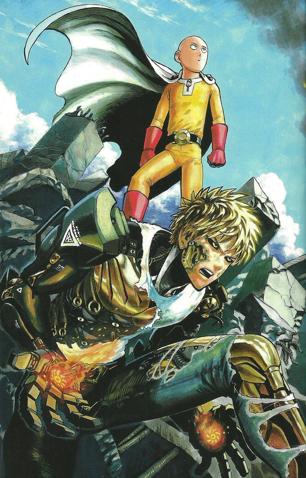 saitama one punch-man personajes poderosos