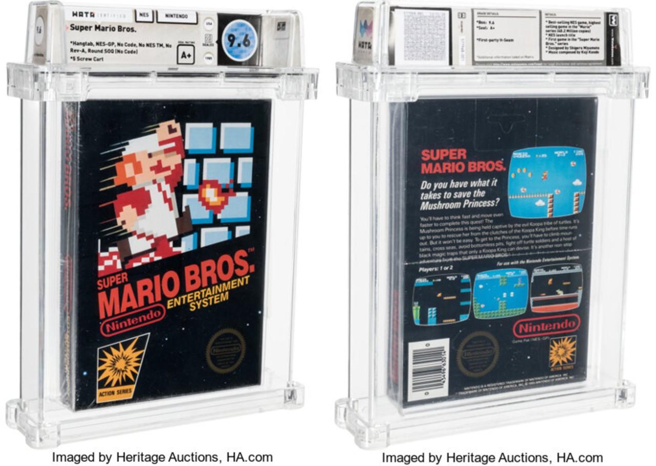 Cartucho Super Mario más caro historia