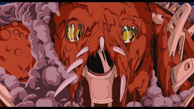 Nausicaä Película Studio Ghibli Escena Dios Guerrero Hideaki Anno