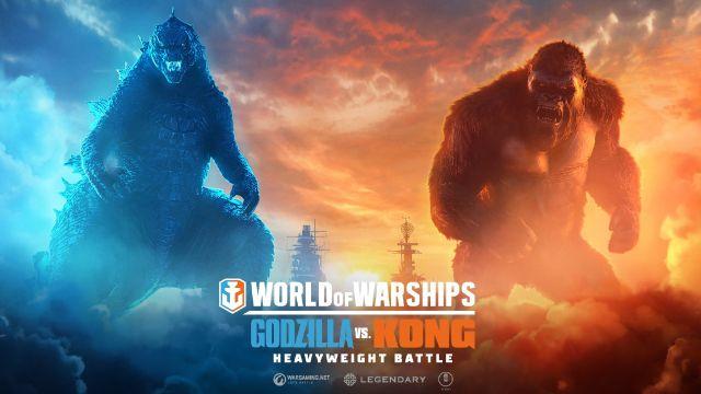 Godzilla Kong actualización batalla World of Warships