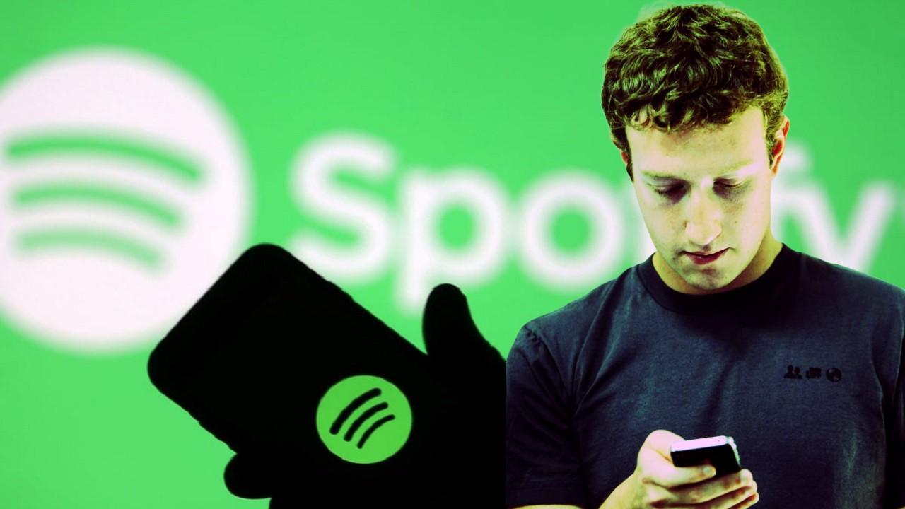 Spotify Mini reproductor Facebook Mark Zuckerberg