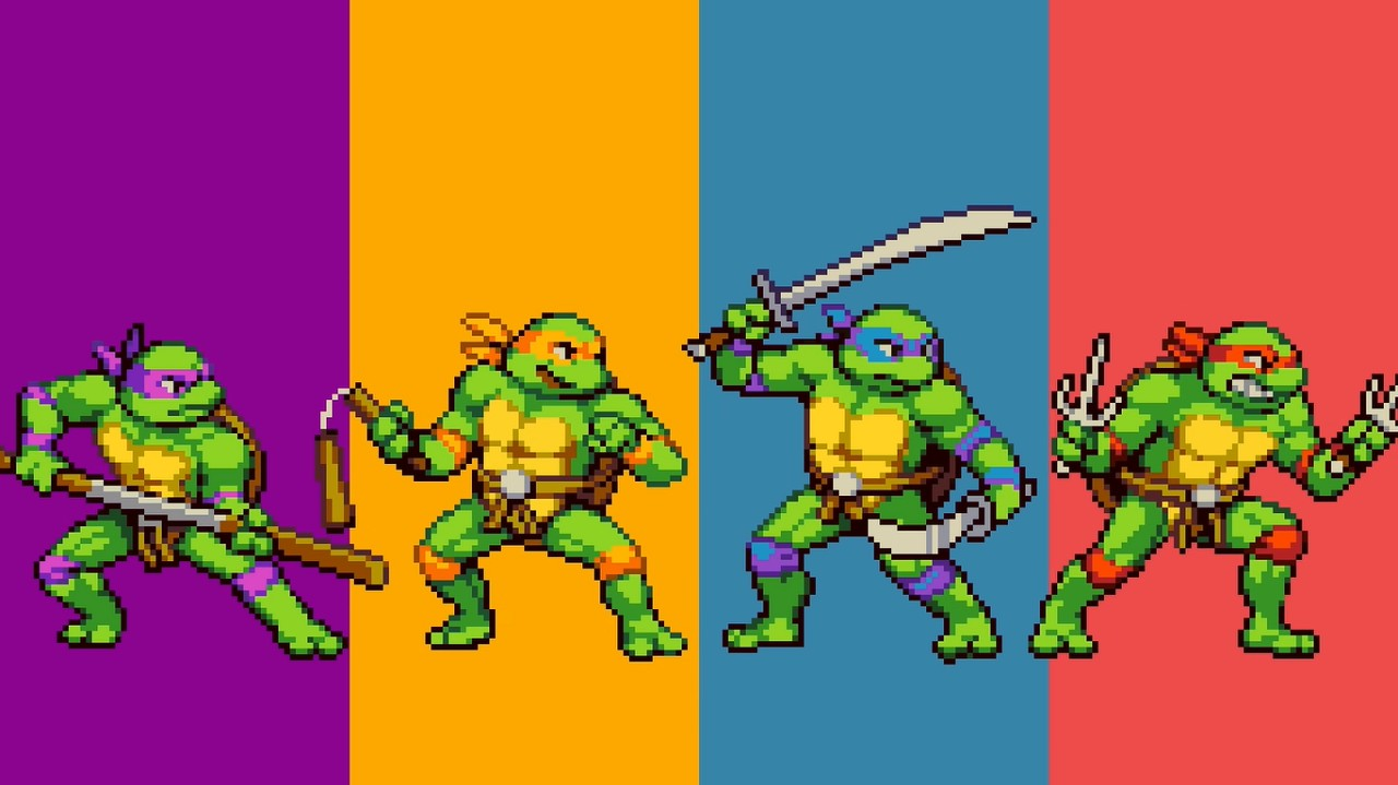 Tortugas Ninja Nuevo Juego Retro beat-em-up Nintendo Switch