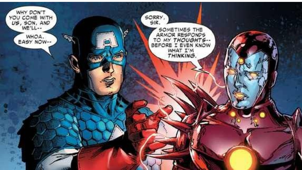 iron lad armadura marvel comics