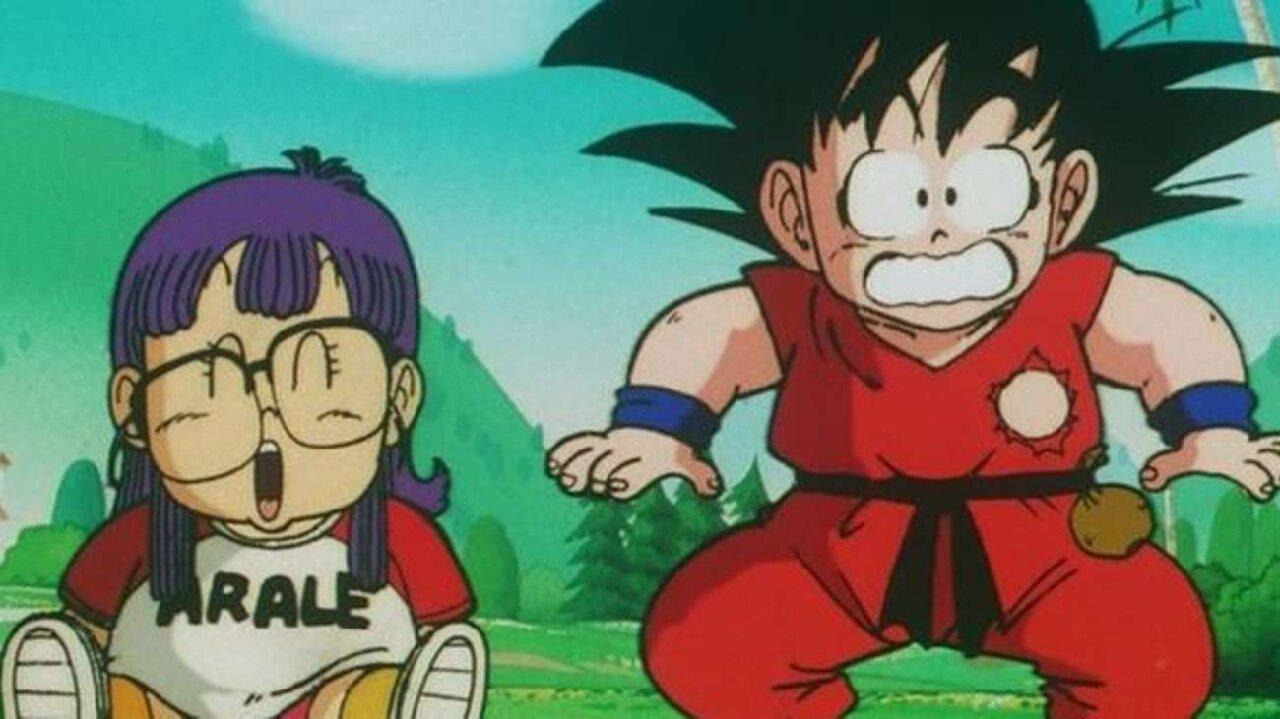 arale goku dragon ball anime aparición