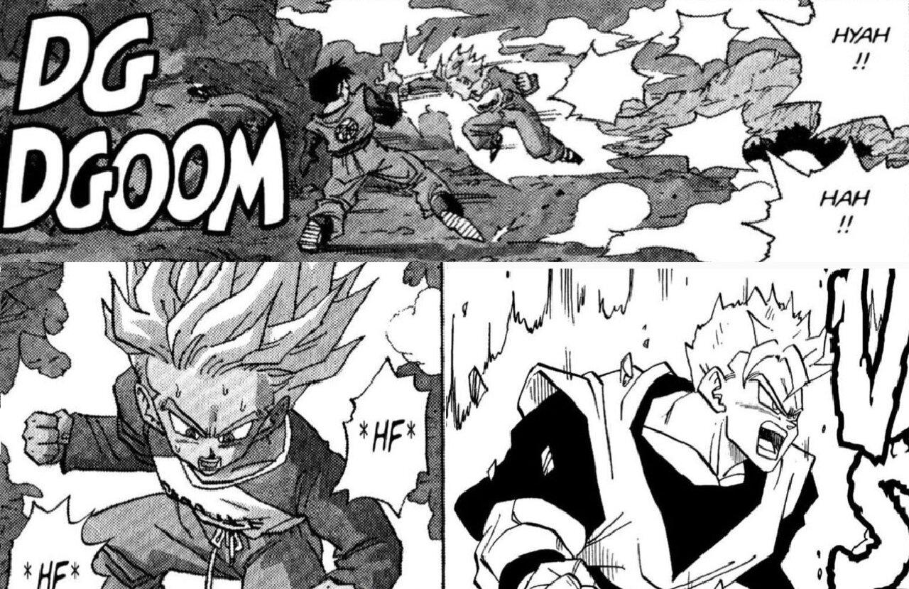 trunks dragon ball anime manga diferencias