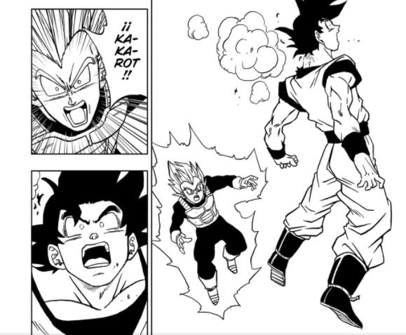 Goku recibe un golpe de Granola