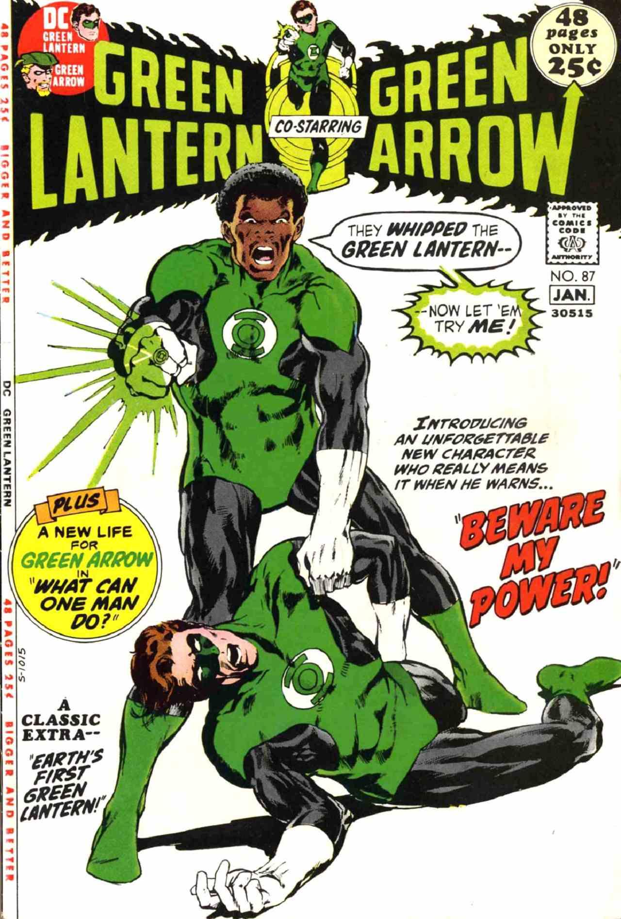 Green Lantern John Stewart DC Comics Primera Aparición