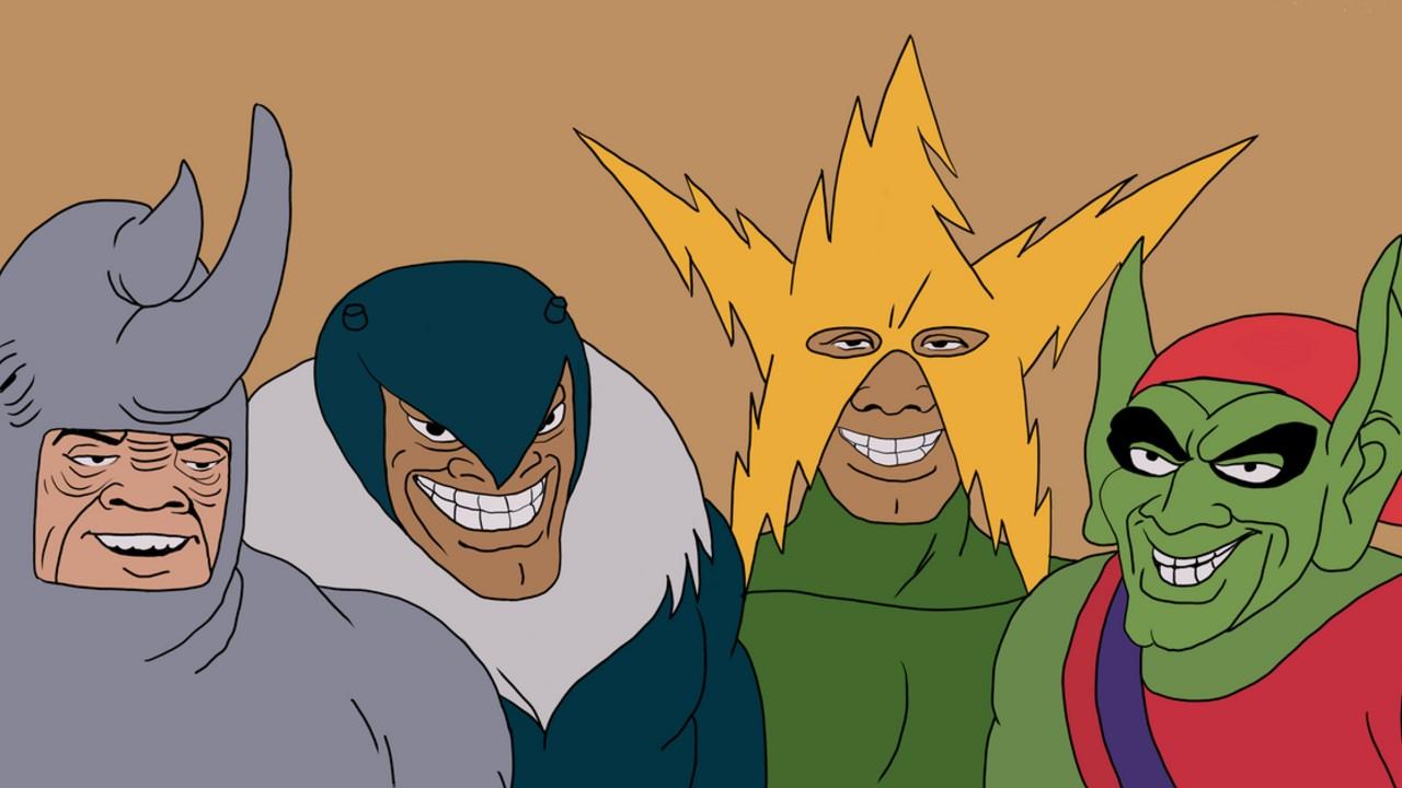 marvel villanos mcu spiderman rhino electro duende verde
