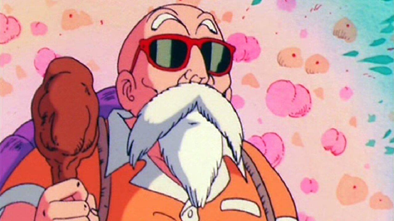 roshi pervertido maestro dragon ball