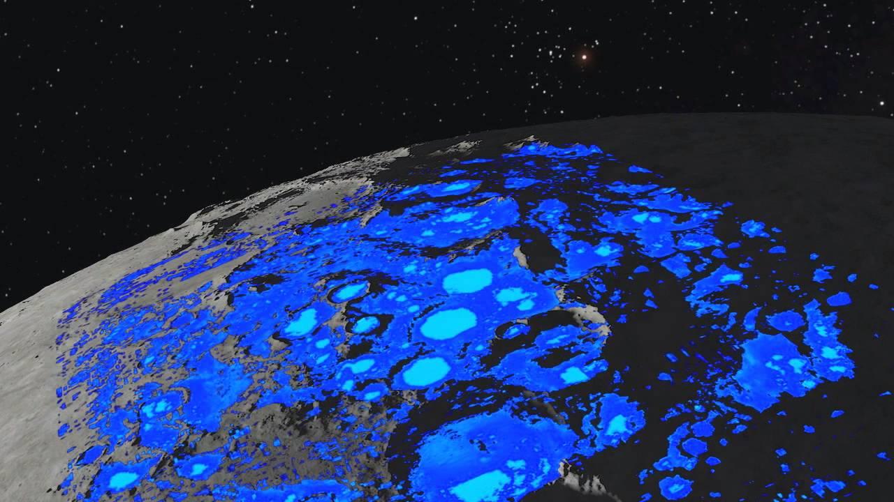 agua en la luna mision espacial nasa