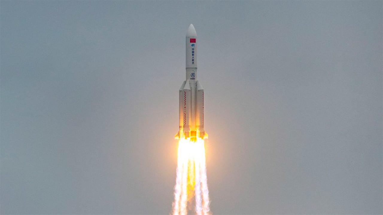 El cohete chino 5b ya cayó en la Tierra