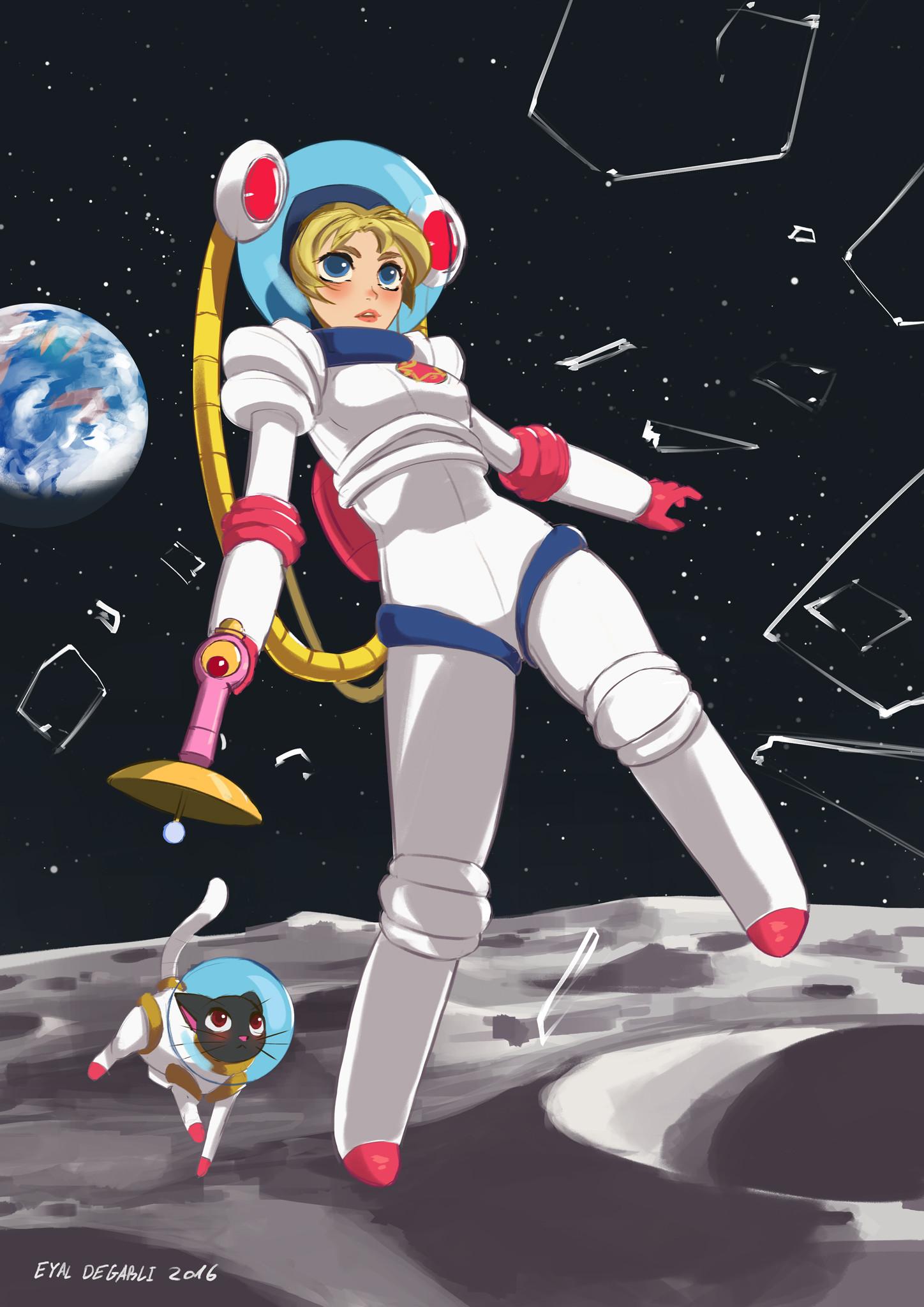 Sailor Moon Lander, ¡protegiendo el sistema solar planeta a planeta! Mi participación en el reto de diseño de personajes smiley