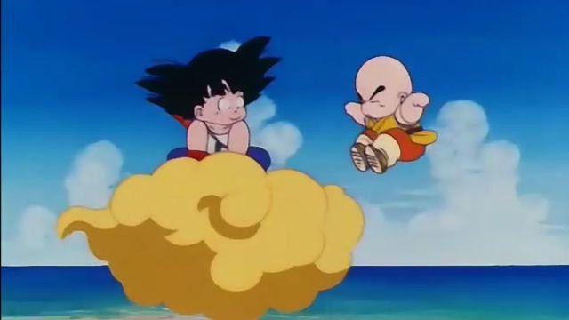 goku y krilin en la nube voladora dragon ball