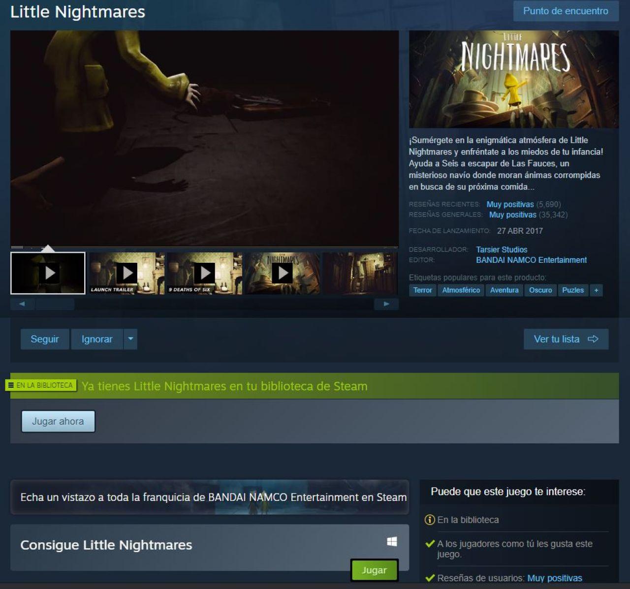 little nightmares gratis steam