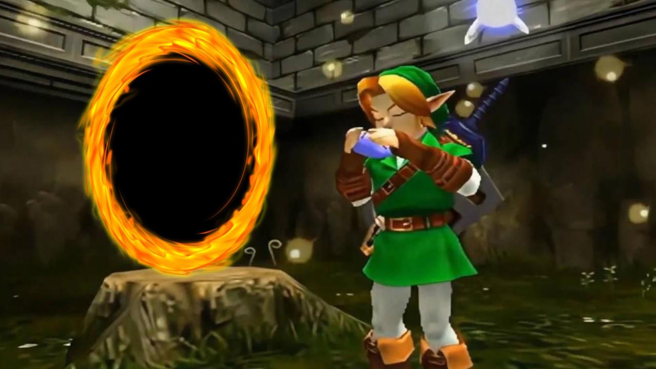The Legend of Zelda tenía portales en la versión original