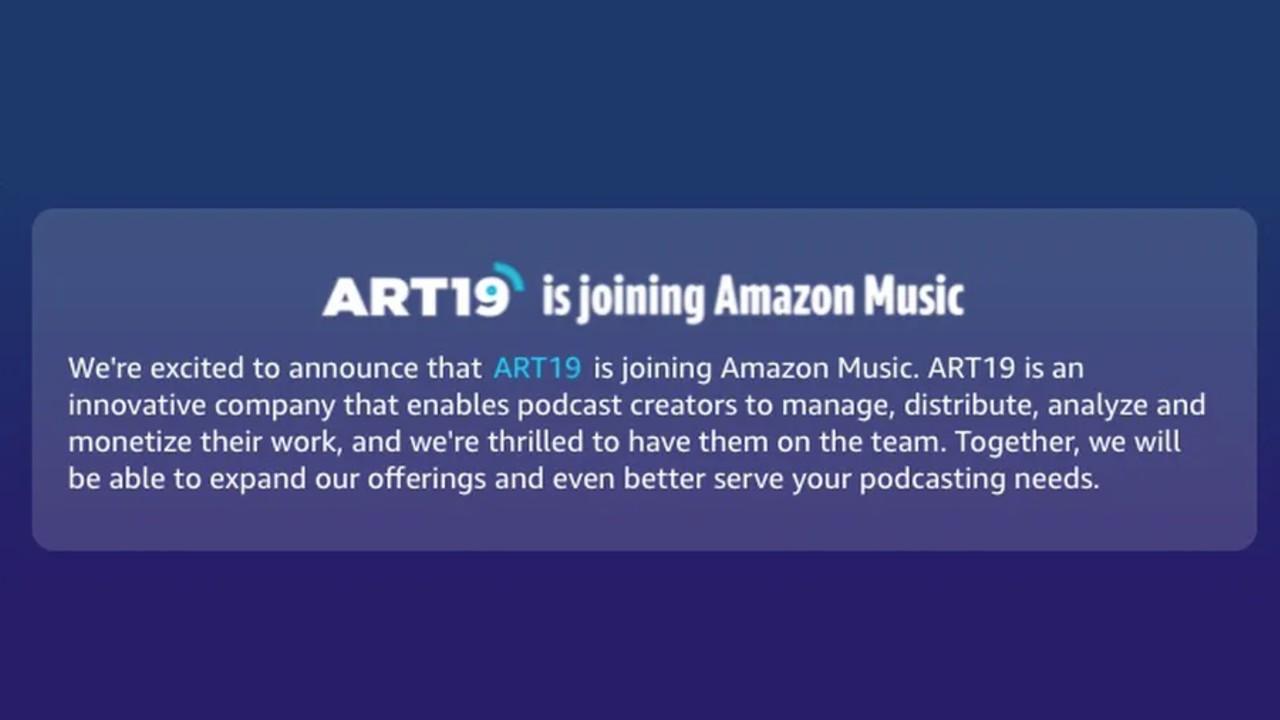 amazon podcast art19 compra servicio