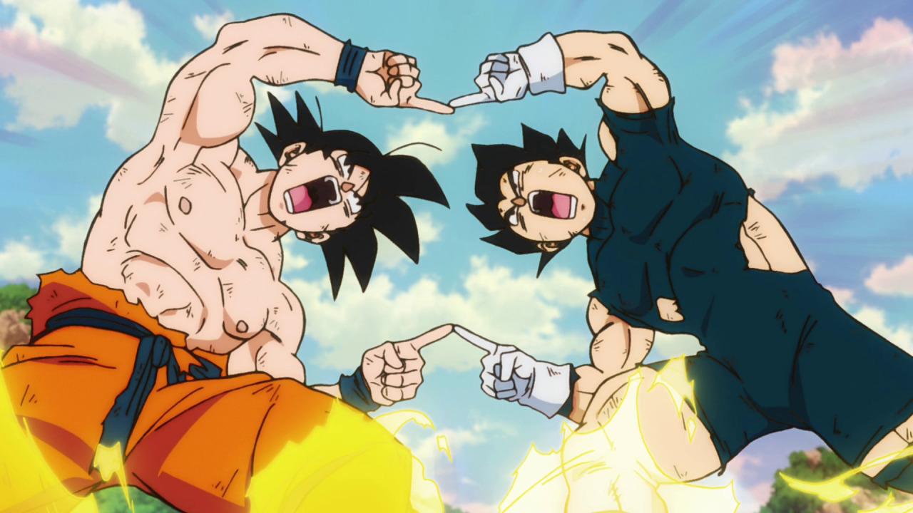 goku y vegeta fusión anime dragon ball
