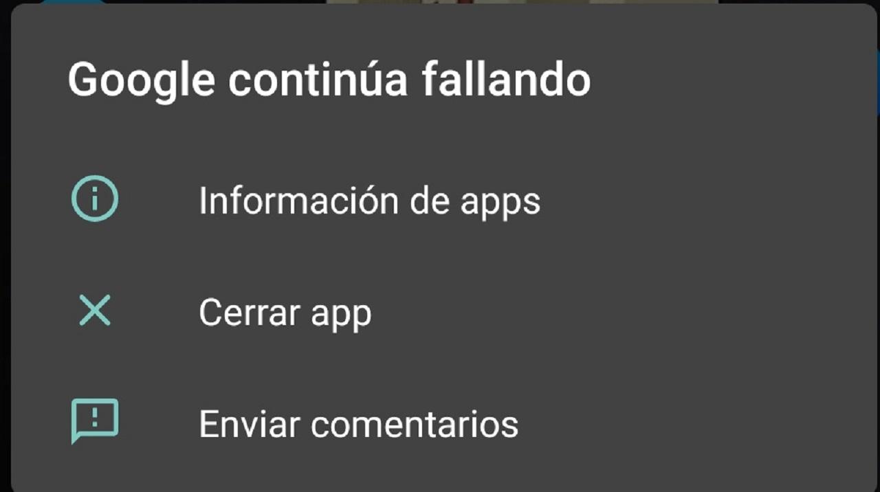 Google Continúa Fallando App Android