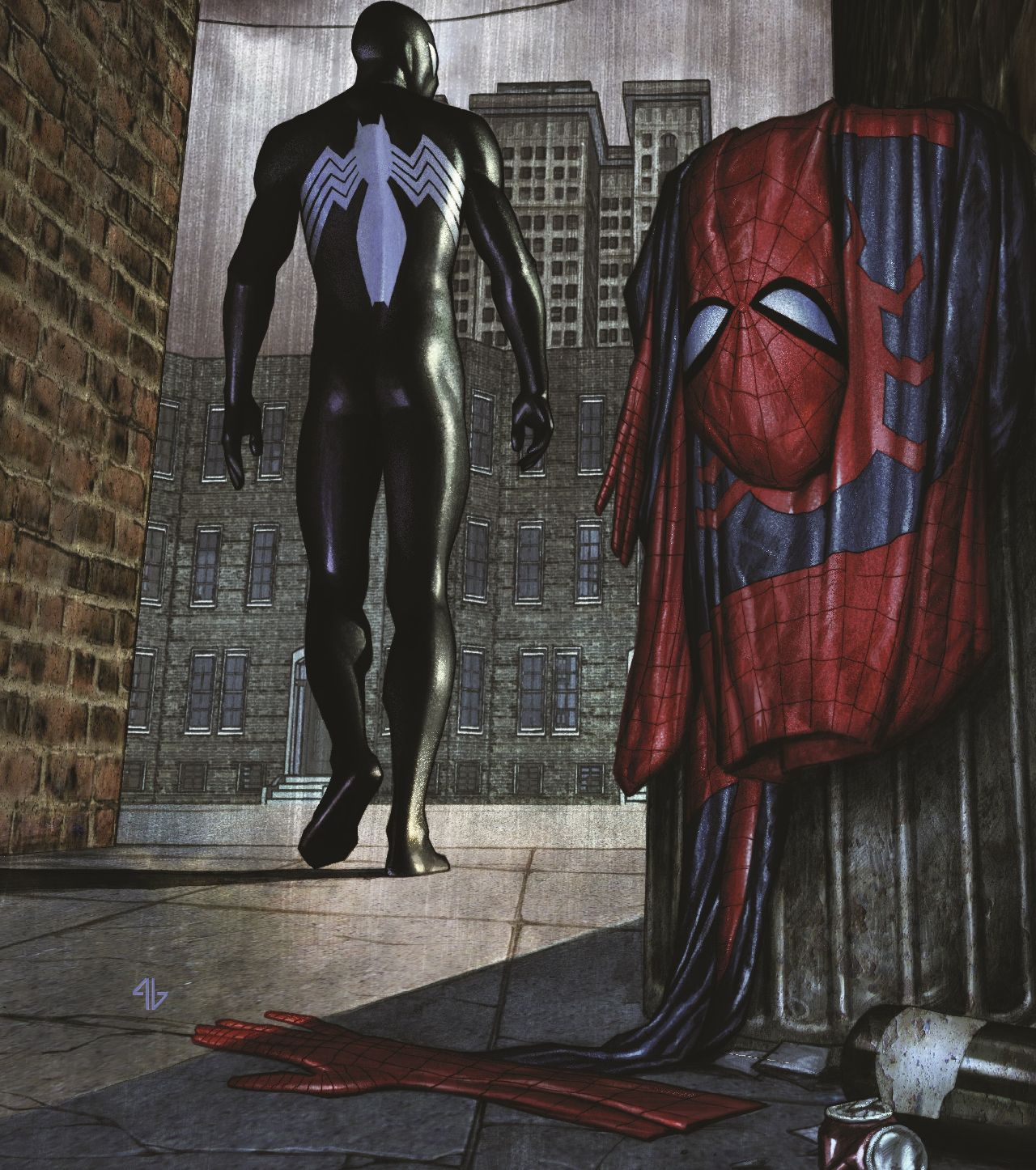 traje de spiderman marvel back in black