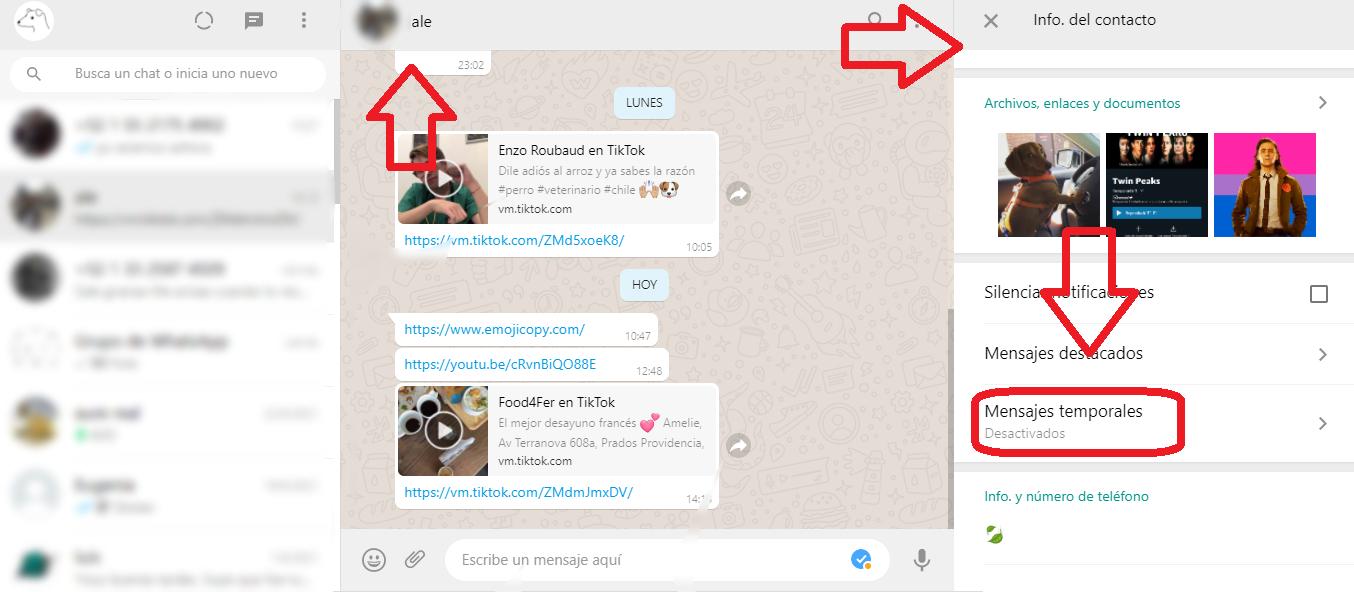 apk de whatsapp web mensajes temporales