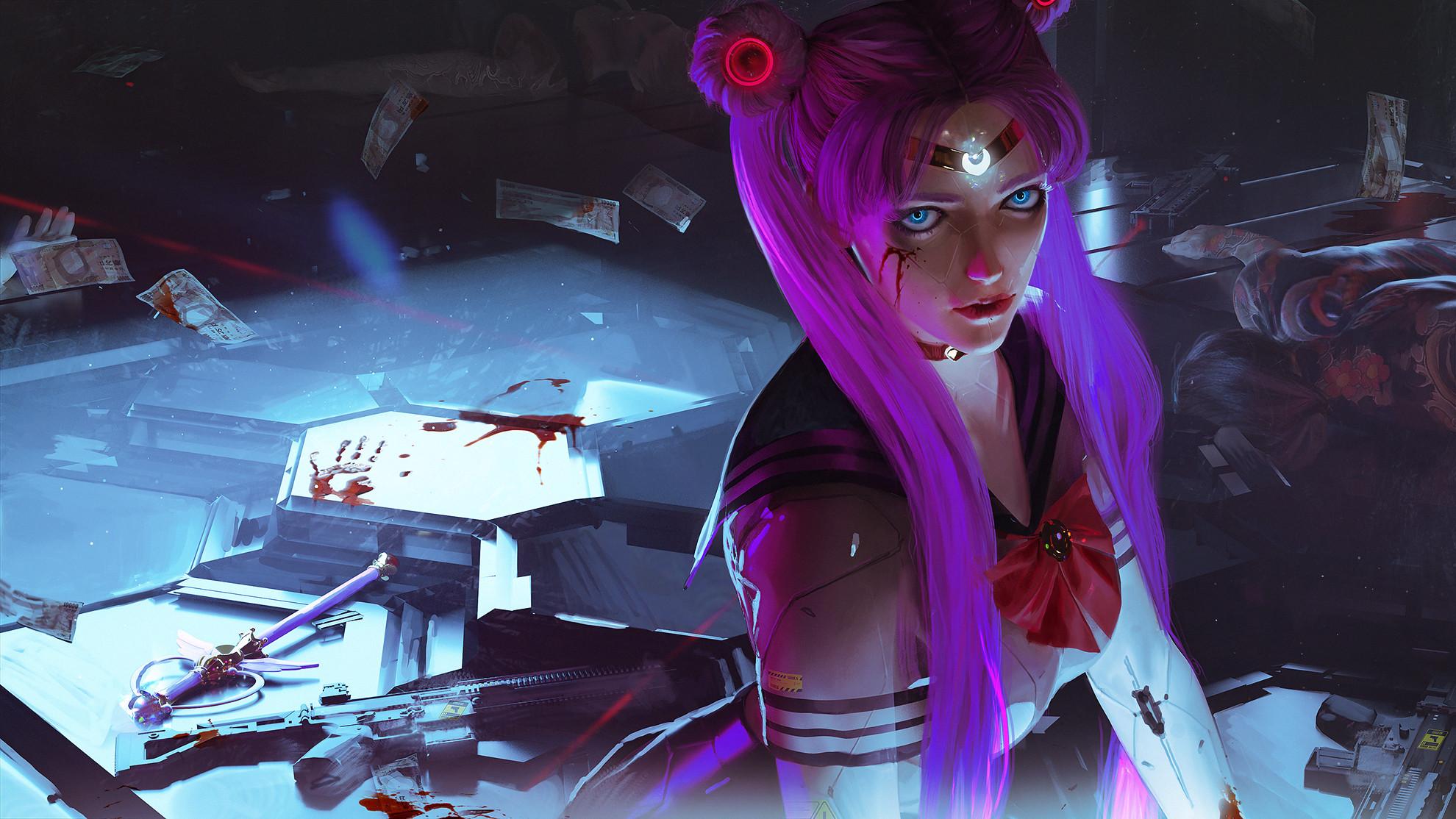 sailor moon cyberpunk 2077