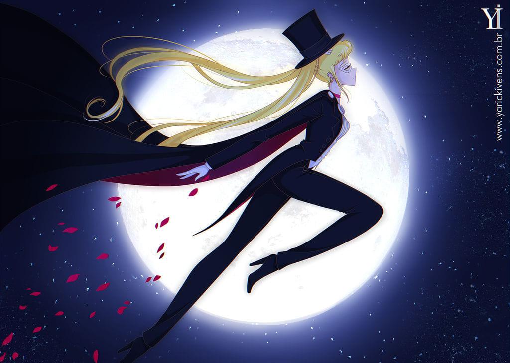 Fanart: Sailor Moon se transforma en Tuxedo Mask gracias a esta ilustración