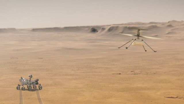 helicoptero nasa marte ingenuity