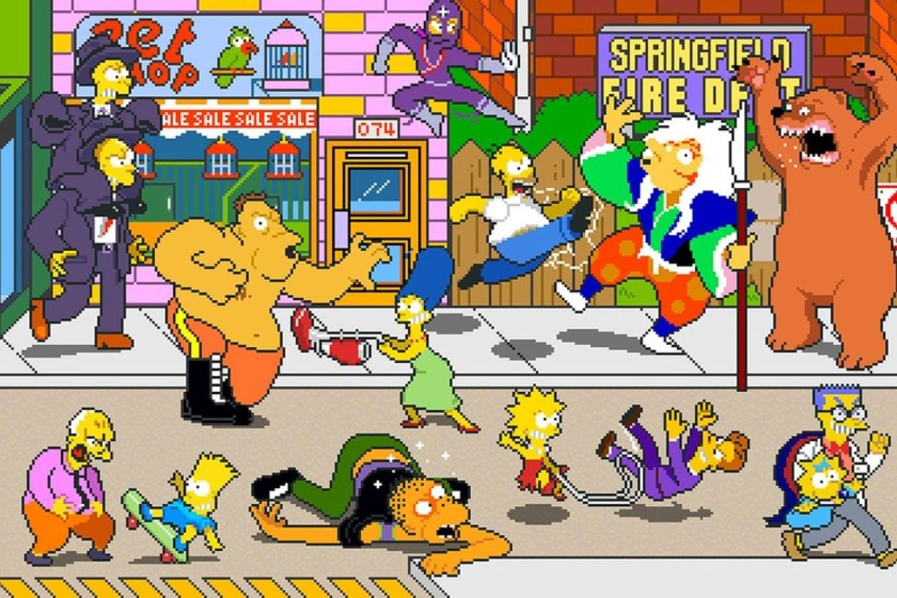 Video game Simpsons Arcade