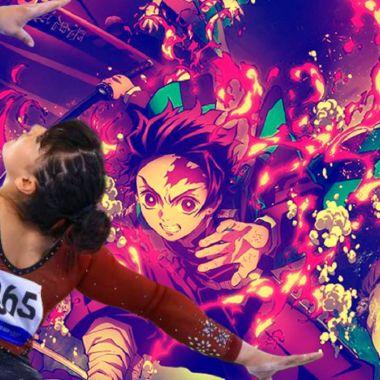 Alexa Moreno Gimnasia Tokyo 2020 Demon Slayer