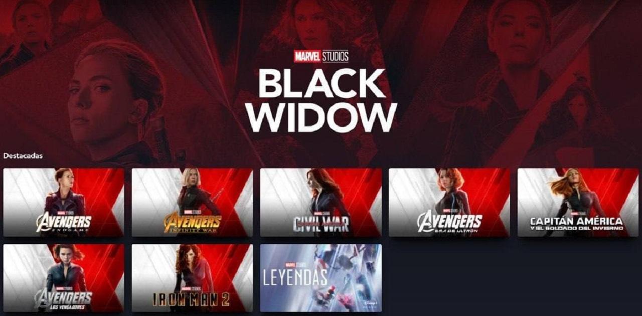 Black Widow Película Estreno Black Widow México Colección Black Widow Portadas