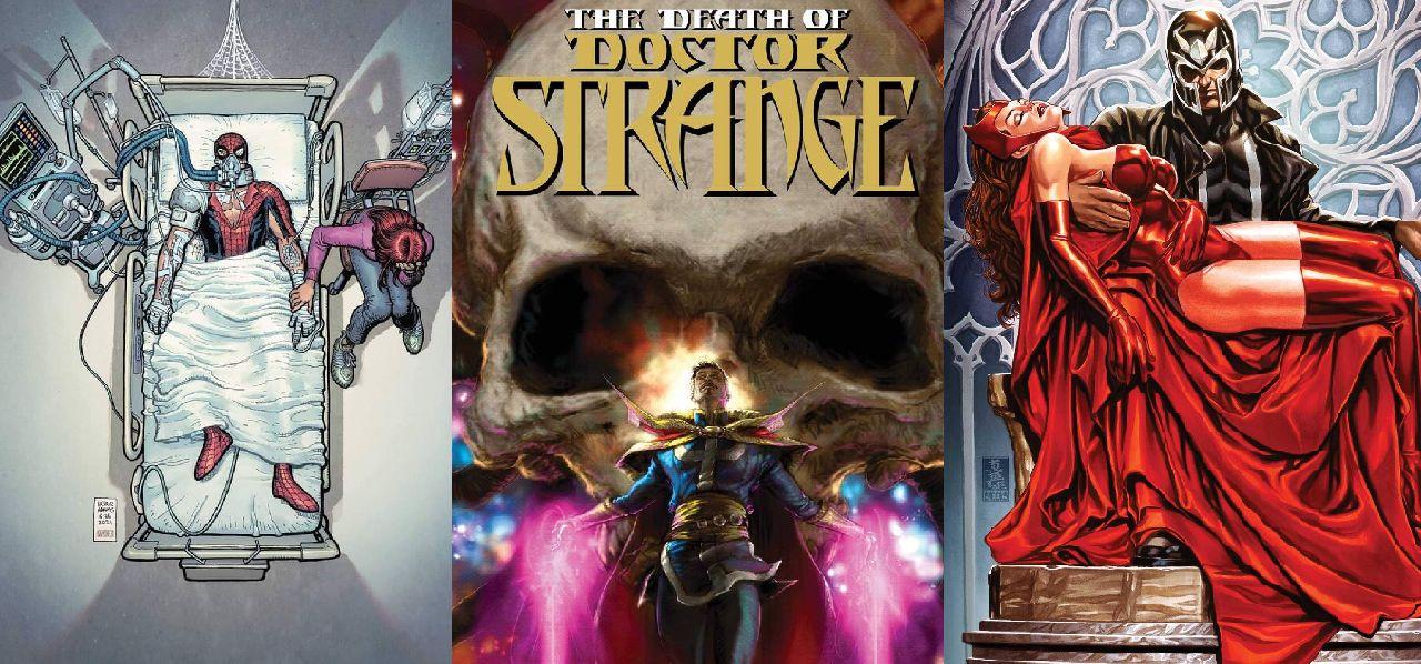 superheroes de marvel muerte spiderman doctor strange