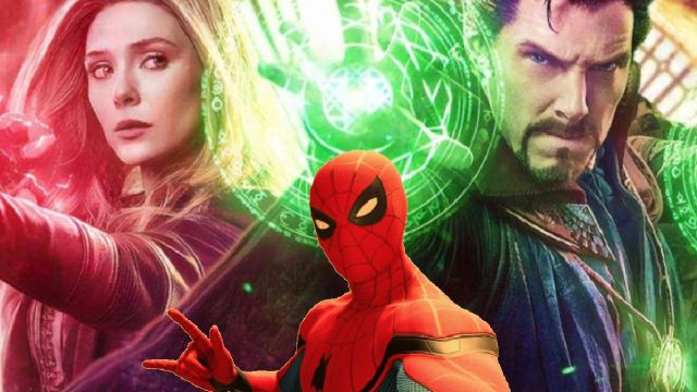 superheroes de marvel spiderman doctor strange bruja escarlata