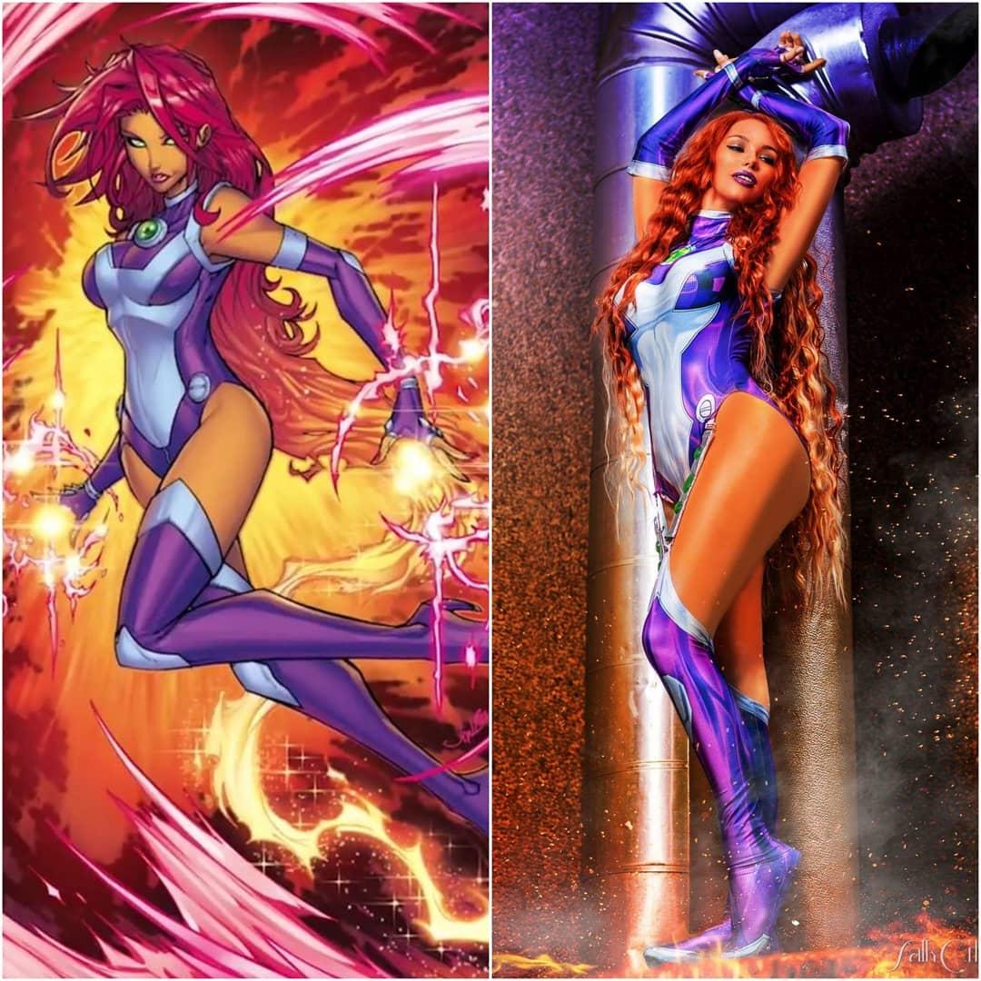 Teen Titans: Starfire cobra vida a través de este impactante cosplay