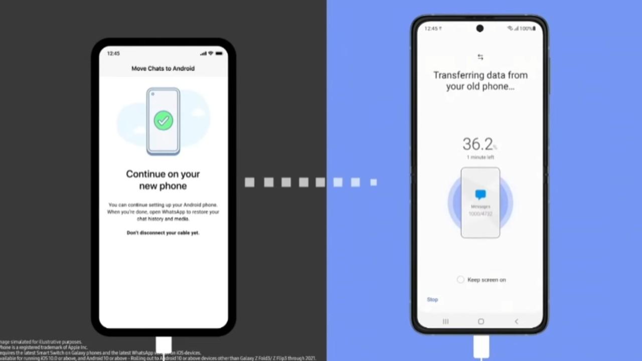 instalar whatsapp android galaxy iphone