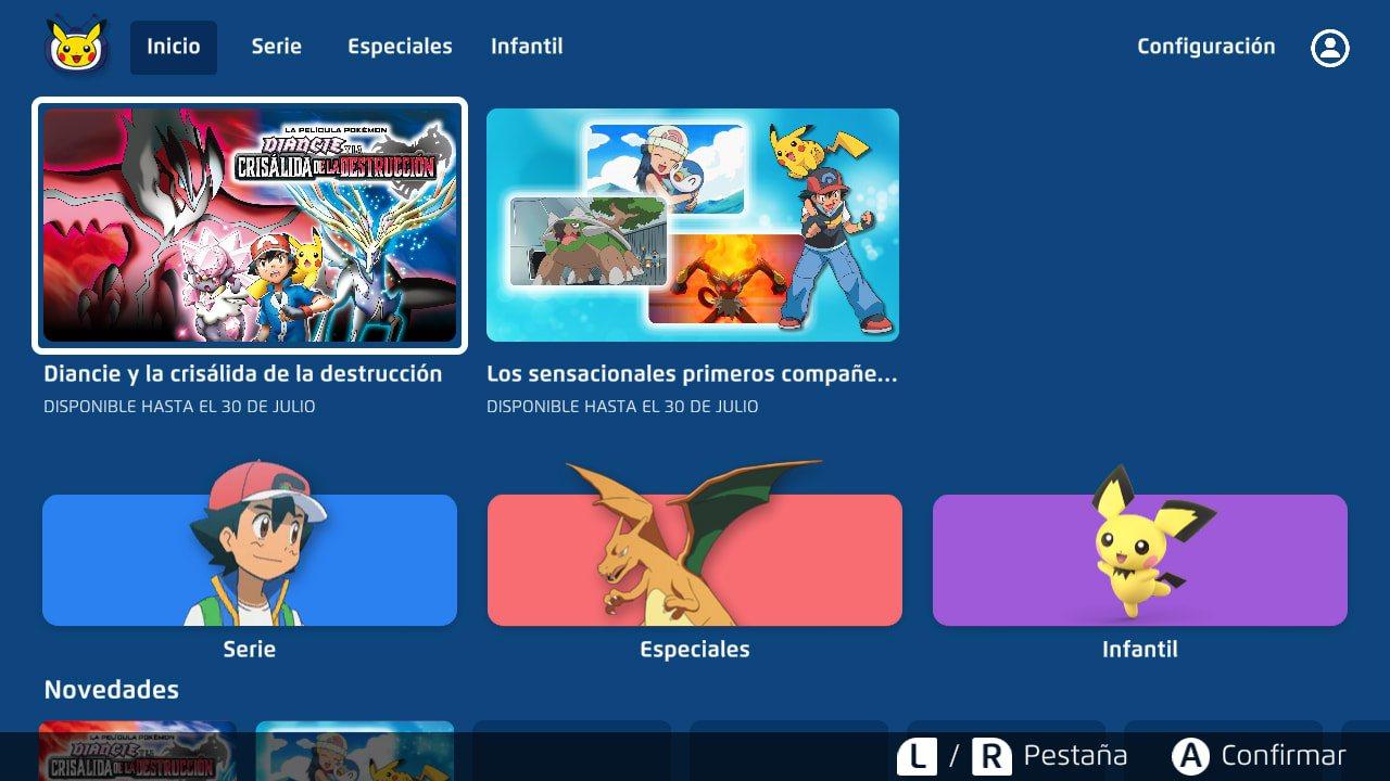 aplicación gratis Pokémon nintendo switch