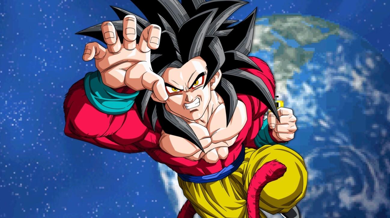 Dragon Ball GT Goku Super Saiyajin 4