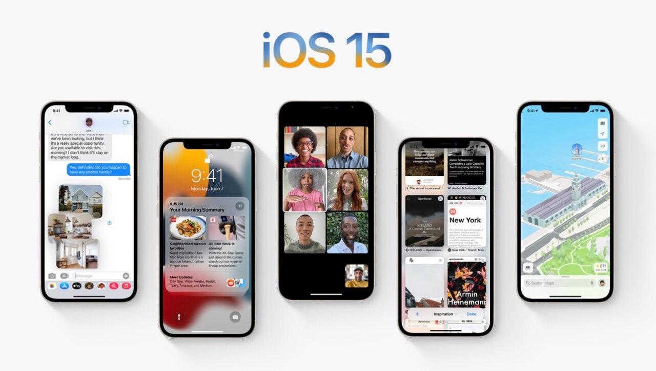 iOS 15 iphone localización aplicación