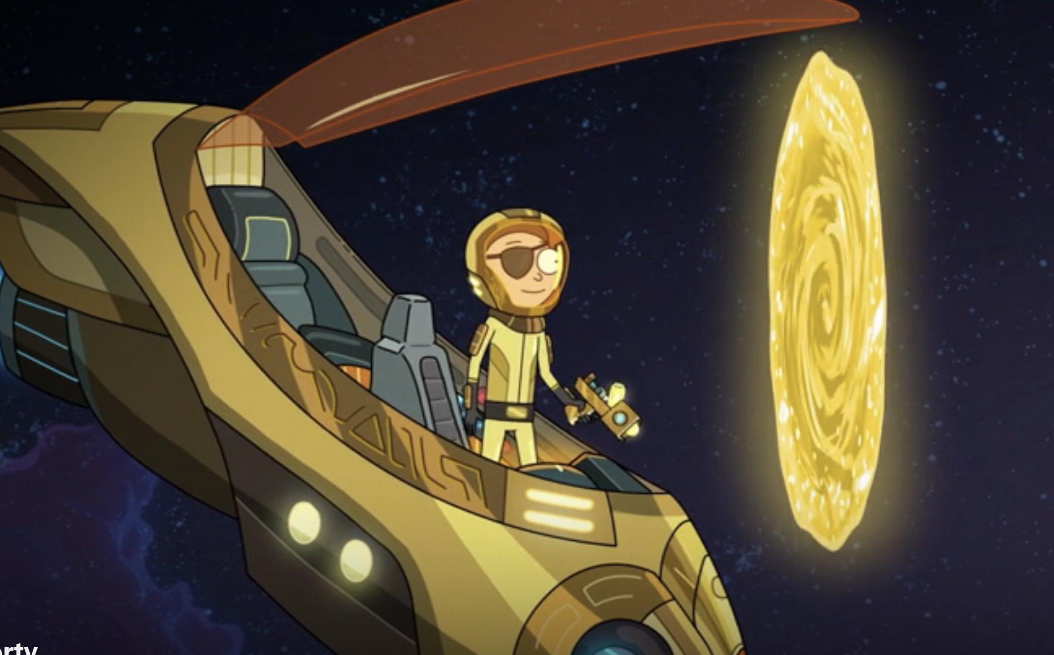 Evil Morty portal amarillo quinta temporada rick morty