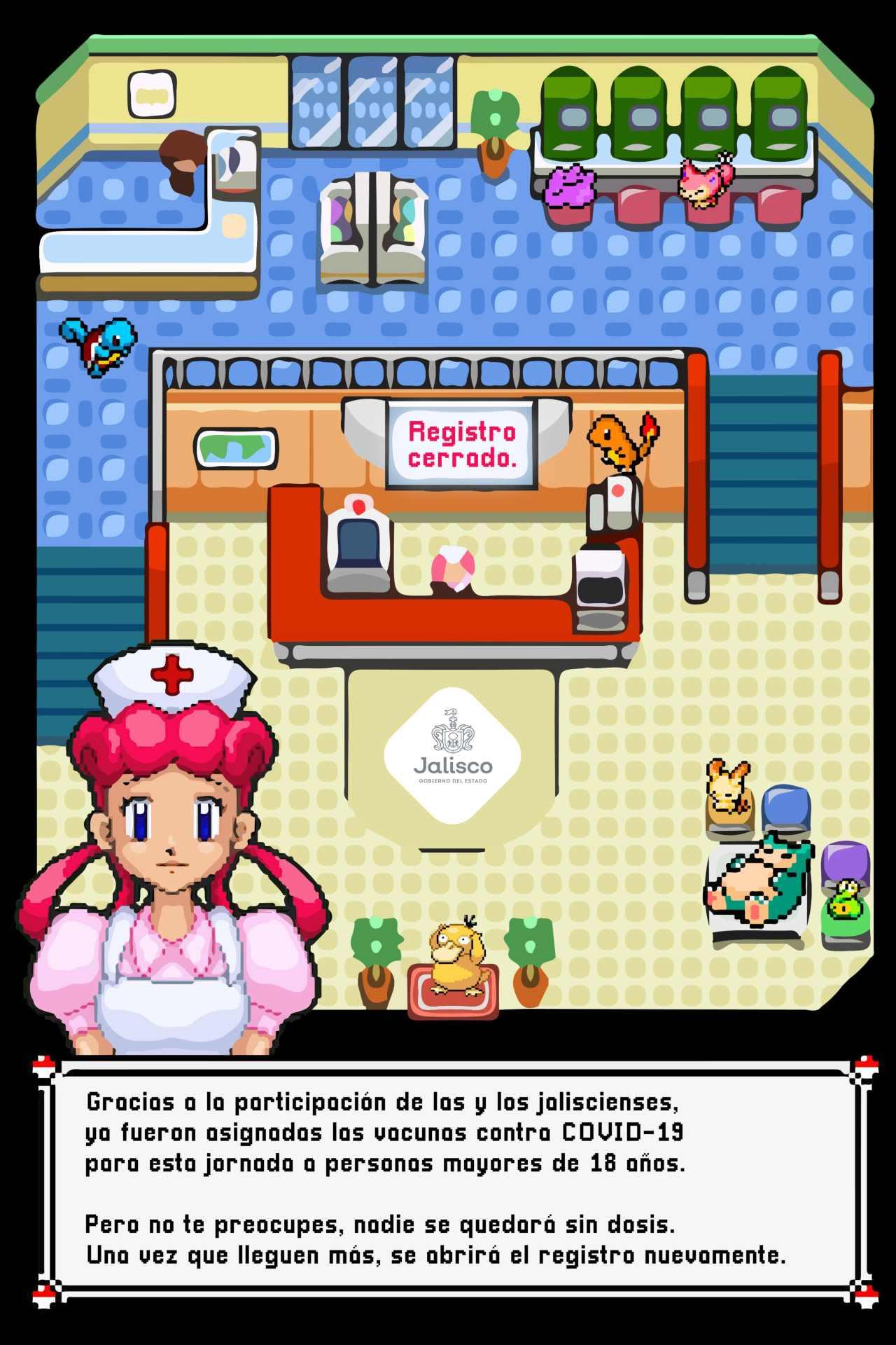 Jalisco Pokemón llamado vacunación anime
