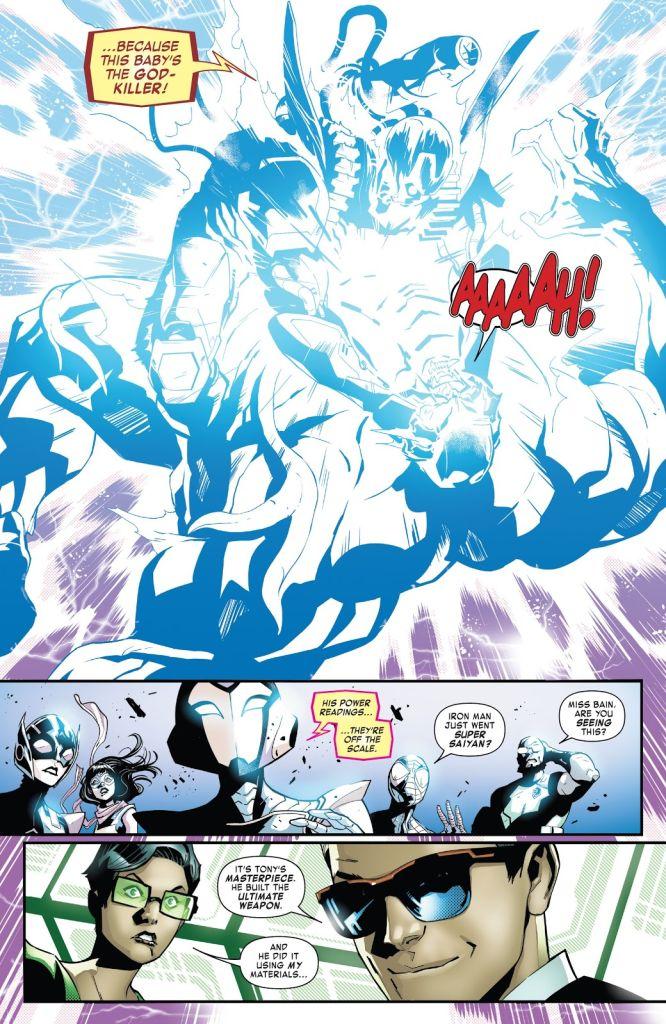 marvel comics iron man super saiyajin
