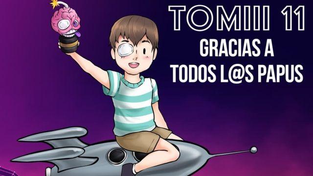 Tomiii 11 boton de diamante 10 millones suscriptores