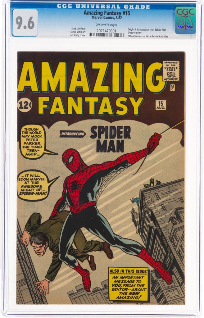 primer comic spider man subasta amazing fantasy