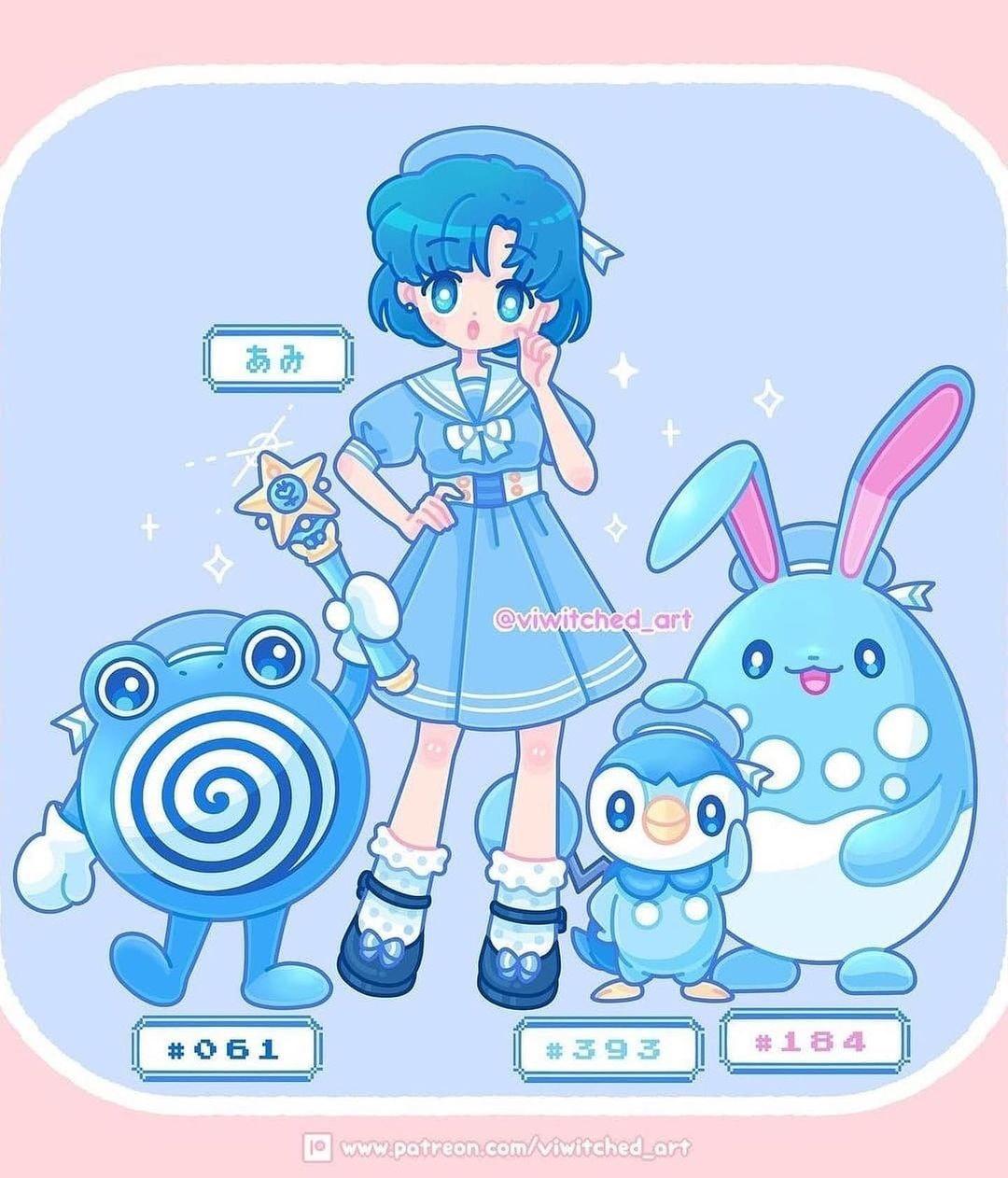 sailor mercury pokemon entrenadora