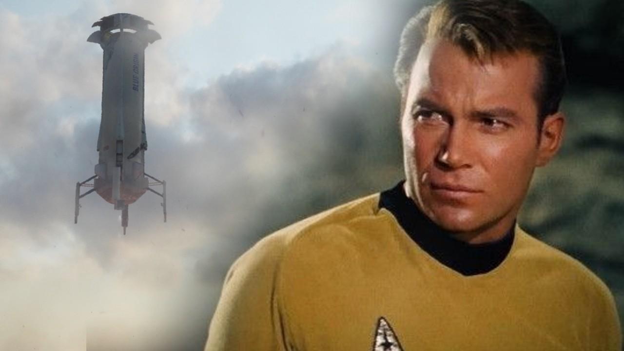 William Shatner capitan kirk blue origin espacio