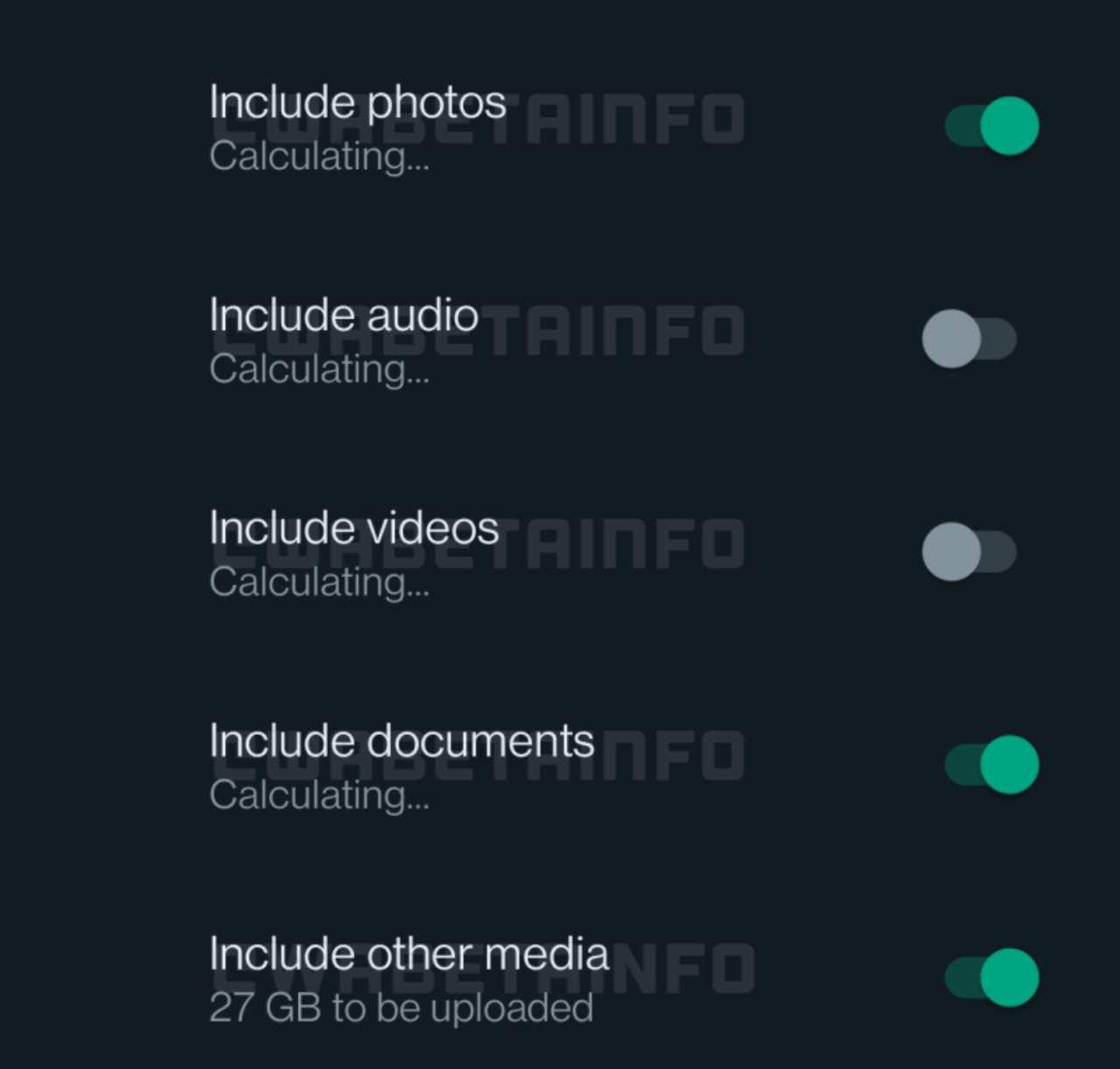 whatsapp función respaldos